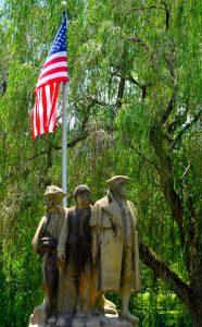 three guys n a flag